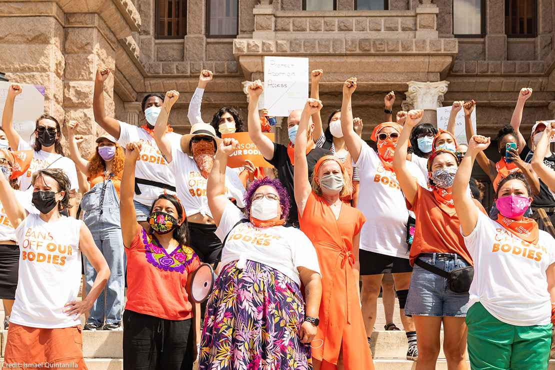 Women protesting abortion laws in Texas.