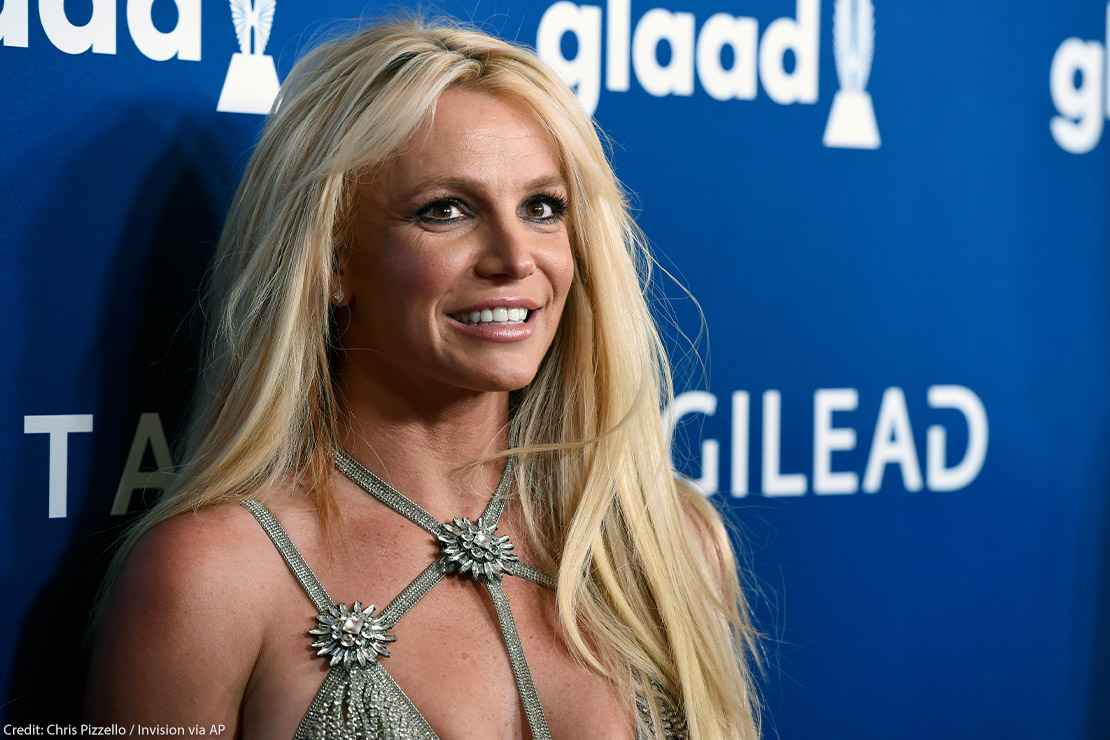 Photo of pop star Britney Spears at the 29th annual GLAAD Media Awards in 2018.
