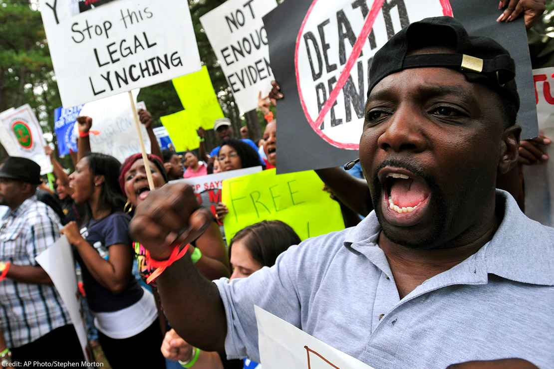 Protest of the execution of Troy Davis