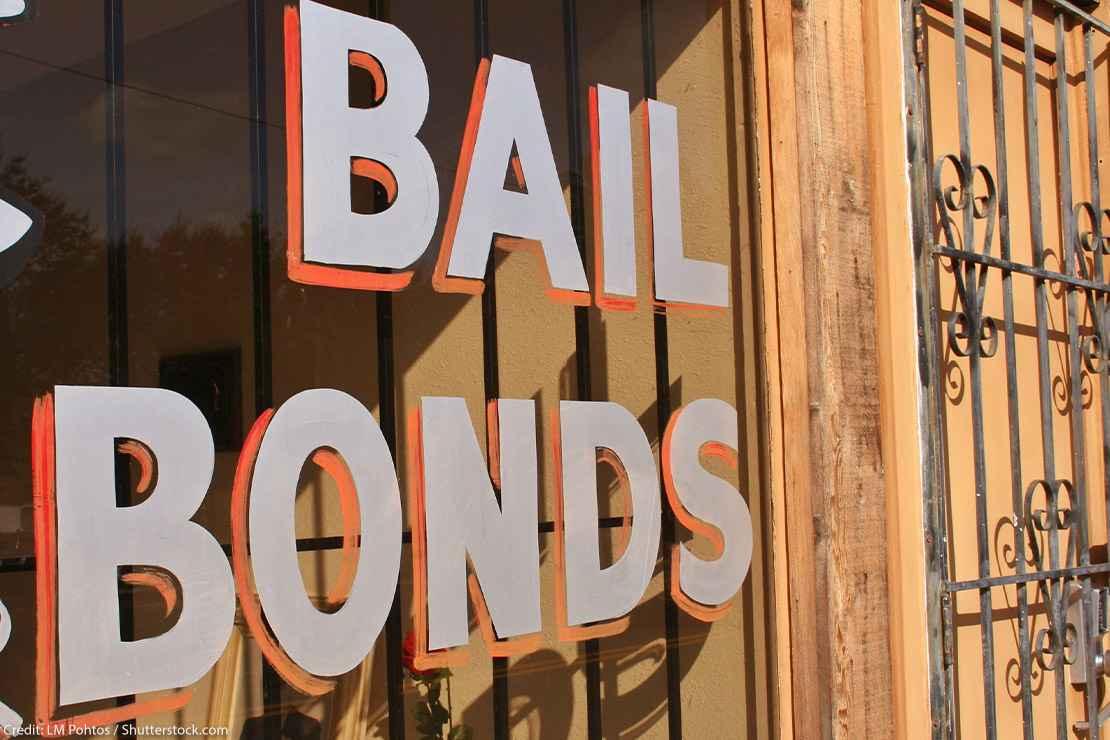 "Window sign reads ""bail bonds"""