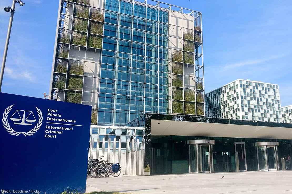 International Criminal Court in Den-Hagg, Netherlands.