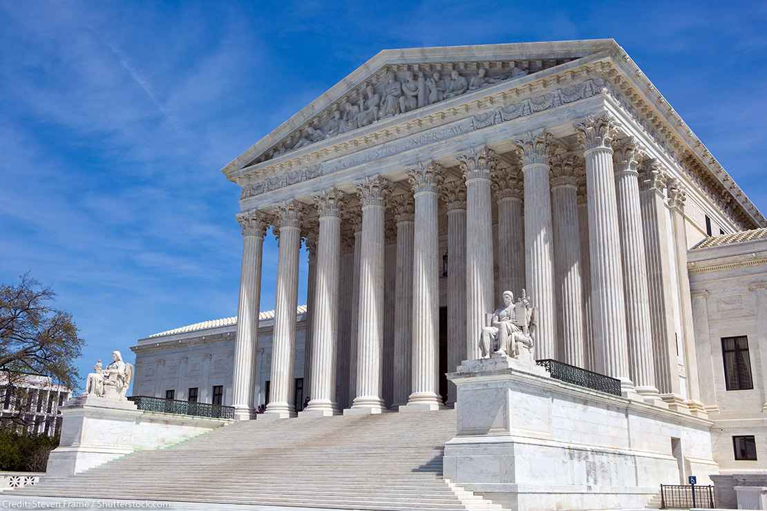 Photo of the Supreme Court building in Washington, DC