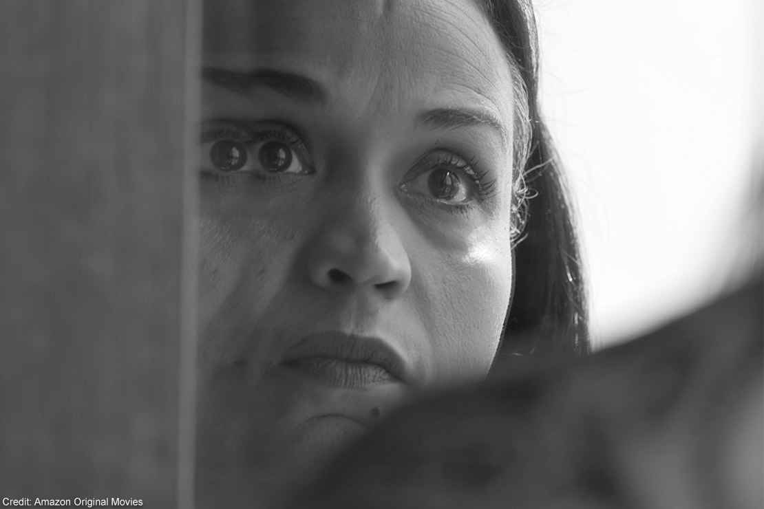 """A somber black and white still featuring Sibil """"Fox"""" Richardson from director Garrett Bradley's documentary, """"Time."""""""