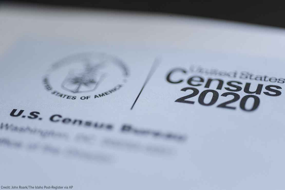 The cover of the US Census form