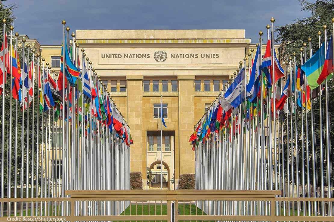 United Nations Building in Geneva Switzerland