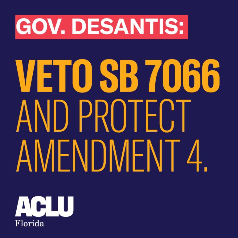 DeSantis Veto SB 7066 Amendment 4