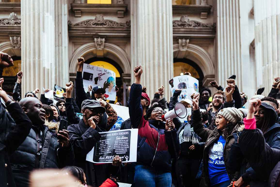 Protests at New York City Hall