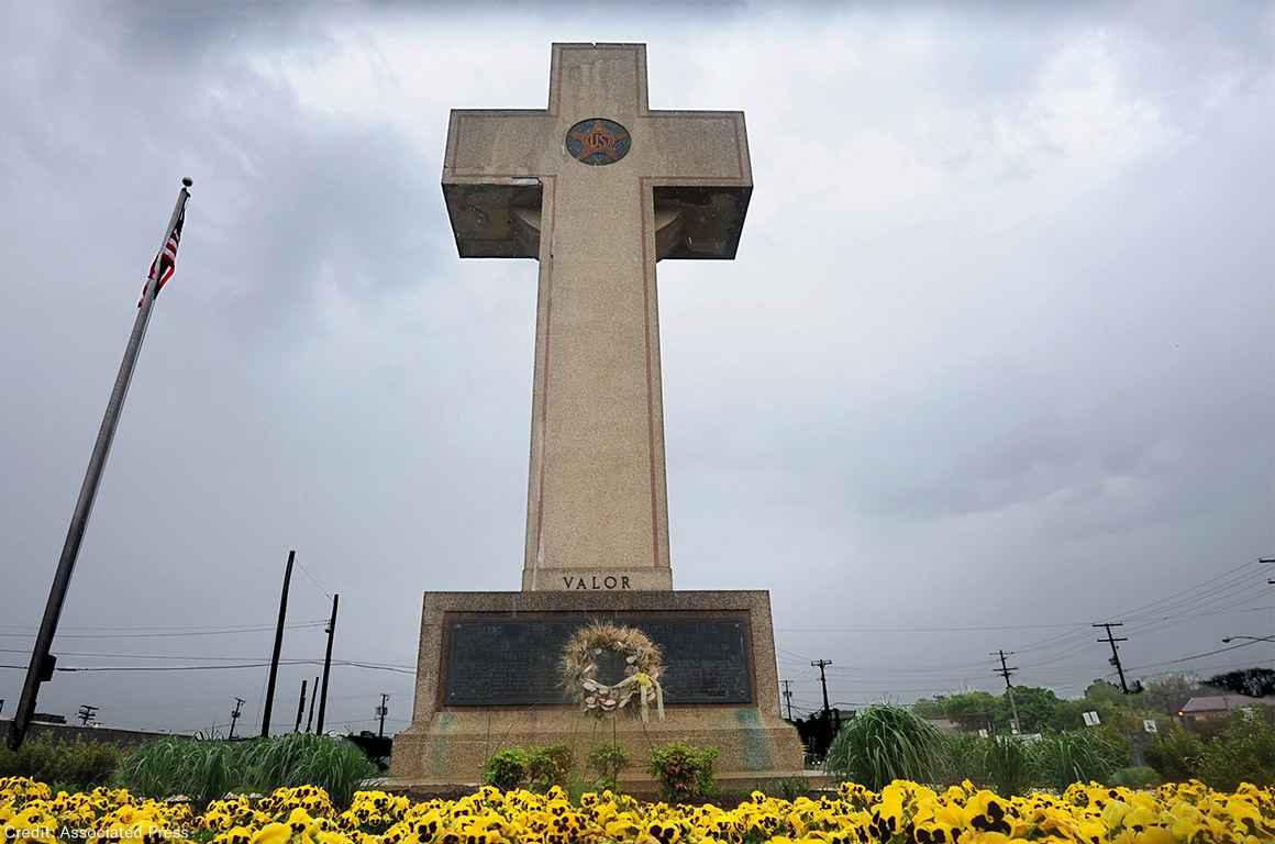 World War I memorial cross in Bladensburg, Md.