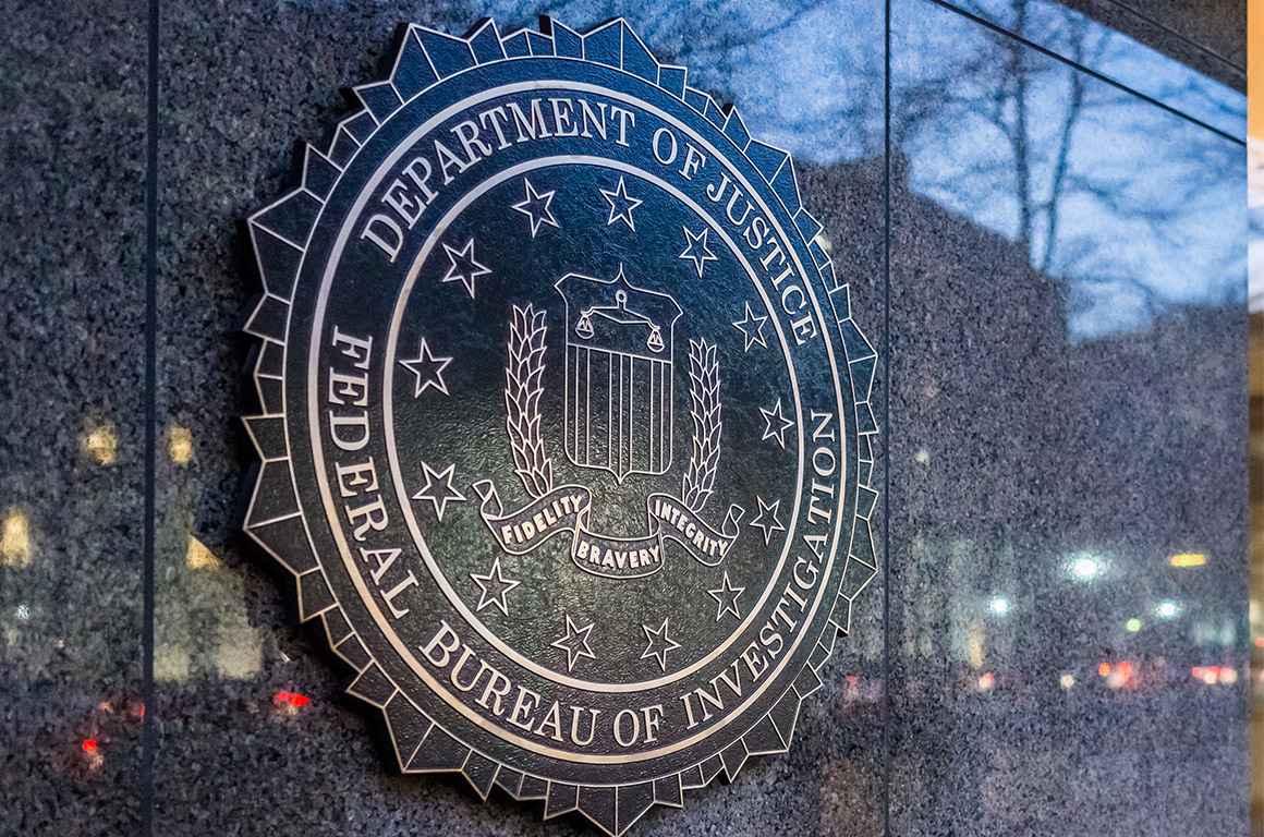 Outside Federal Bureau of Investigation Headquarters
