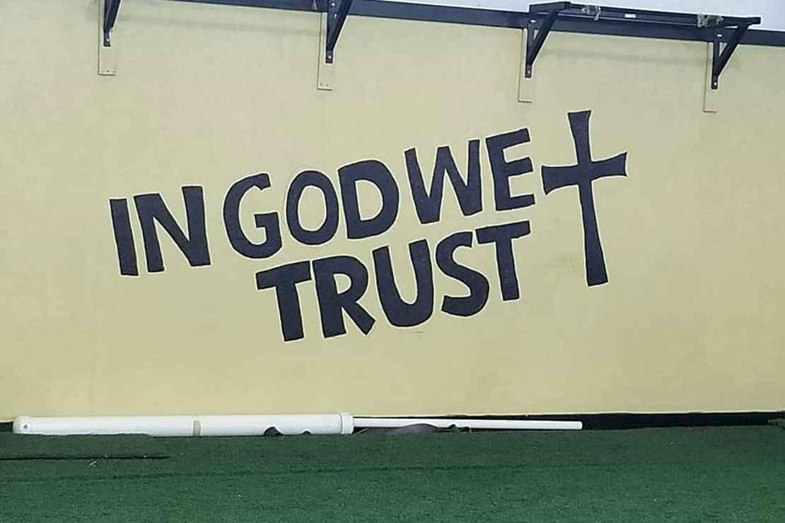 """In God We Trust"" mural"