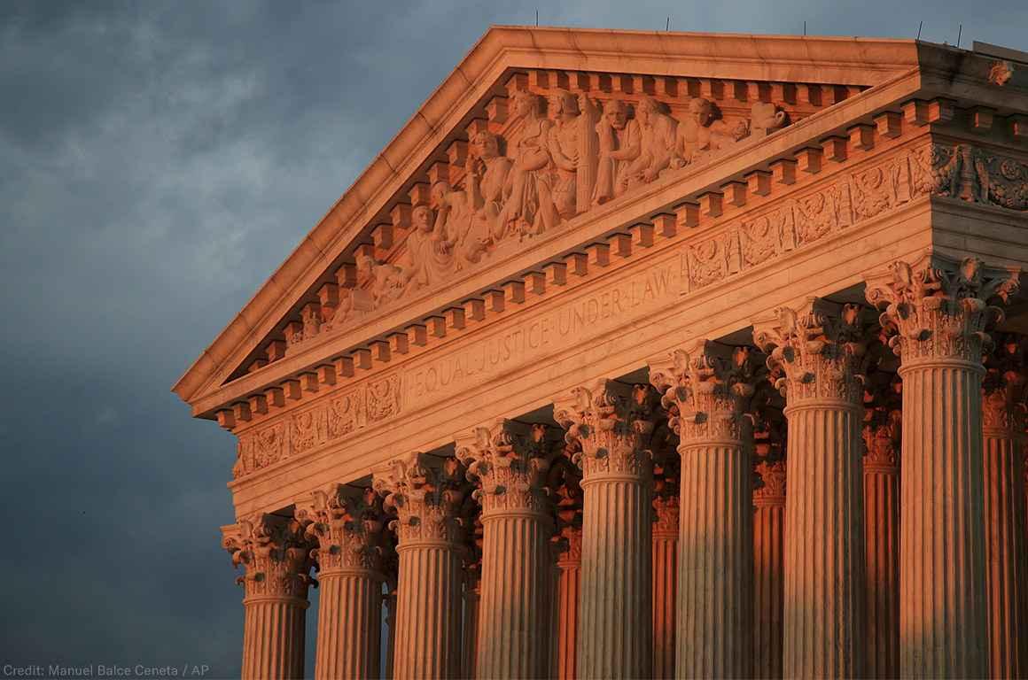 Supreme Court at sunset