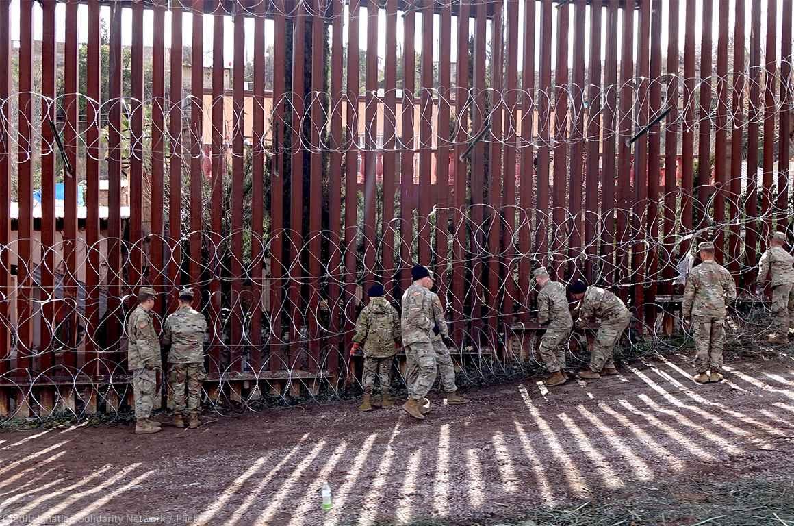 US-Mexico Border Wall in Nogales, Arizona